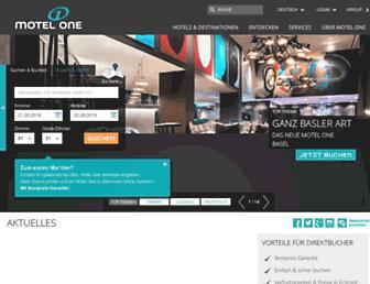 motel-one.com screenshot