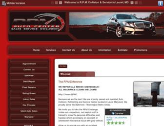 rpmautobody.com screenshot