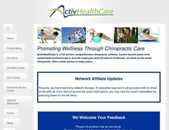 activhealthcare.com screenshot