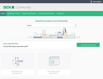 community.sdl.com screenshot