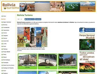 boliviaturismo.com.bo screenshot