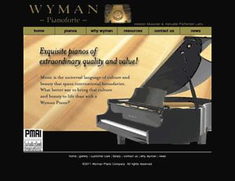wymanpiano.com screenshot