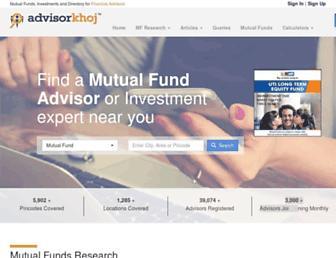 advisorkhoj.com screenshot