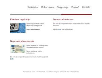 registracijakoncar.com screenshot