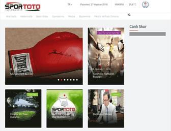 sportoto.gov.tr screenshot