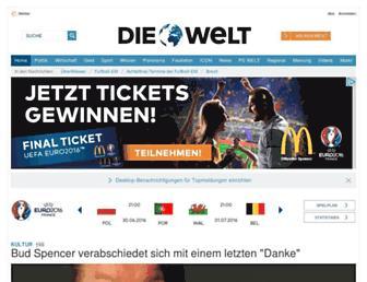 Main page screenshot of welt.de