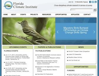 floridaclimateinstitute.org screenshot
