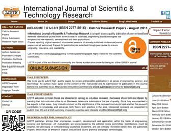 ijstr.org screenshot