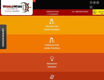 worldwidecallcenters.com screenshot