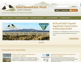 Main page screenshot of iwjv.org