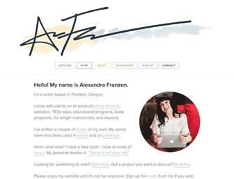 Thumbshot of Alexandrafranzen.com
