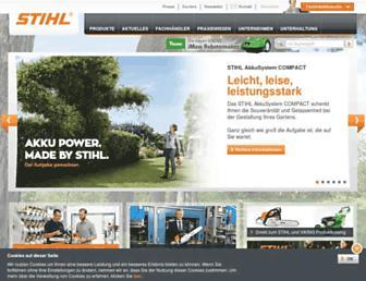 Main page screenshot of stihl.de