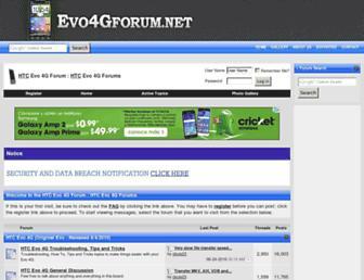 Main page screenshot of evo4gforum.net