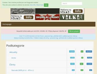 Main page screenshot of forum.valka.cz