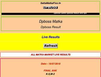 dpboss.sattamatkafixx.in screenshot