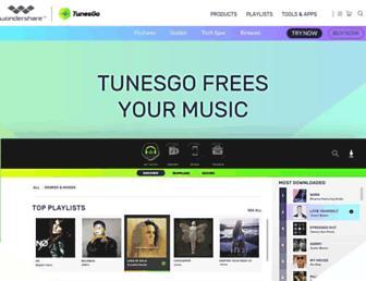 tunesgo.wondershare.com screenshot