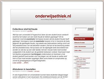 Main page screenshot of onderwijsethiek.nl