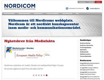 nordicom.gu.se screenshot