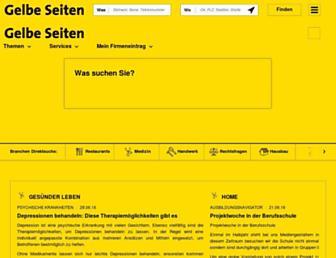 Main page screenshot of gelbeseiten.de