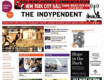 Main page screenshot of indypendent.org