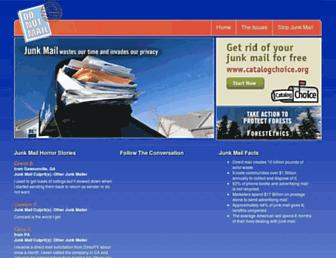 Main page screenshot of donotmail.org