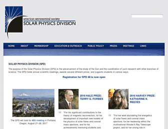 Main page screenshot of spd.aas.org