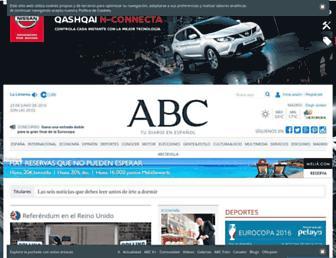 Main page screenshot of abc.es