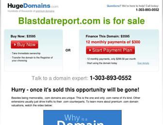 Thumbshot of Blastdatreport.com