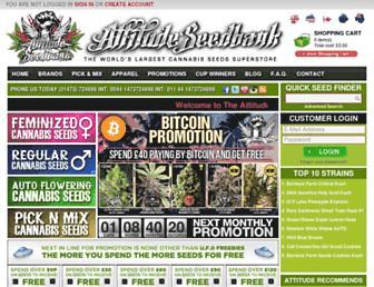 Main page screenshot of cannabis-seeds-bank.co.uk