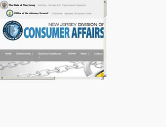 Thumbshot of Njconsumeraffairs.gov