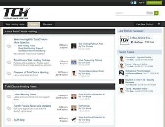 forums.totalchoicehosting.com screenshot