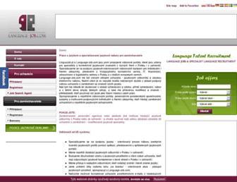 Main page screenshot of linguajob.cz