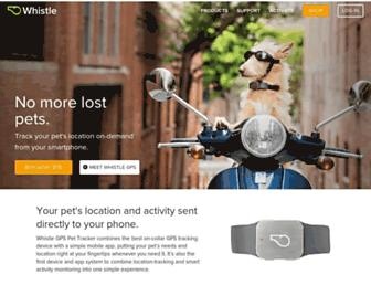whistle.com screenshot