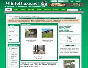 Main page screenshot of whiteblaze.net