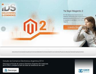 Main page screenshot of ids.net.ar