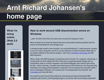 Main page screenshot of arj.nvg.org