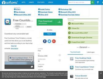 free-countdown-timer-portable.en.softonic.com screenshot