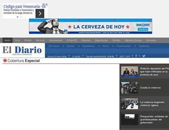 Main page screenshot of eldiariodechihuahua.mx