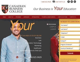 canadianbusinesscollege.com screenshot