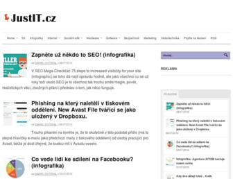 Main page screenshot of justit.cz