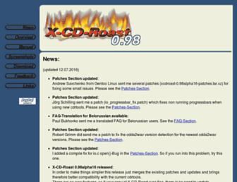 xcdroast.org screenshot
