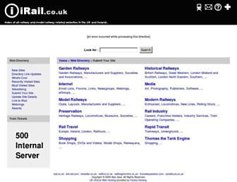 irail.co.uk screenshot
