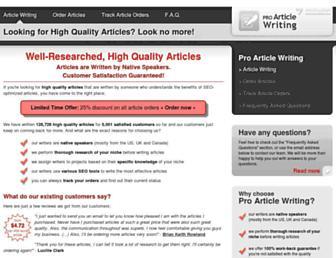 Thumbshot of Proarticlewriting.com