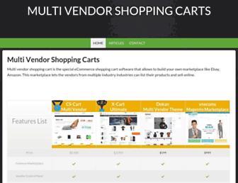 Thumbshot of Multivendorshoppingcarts.com