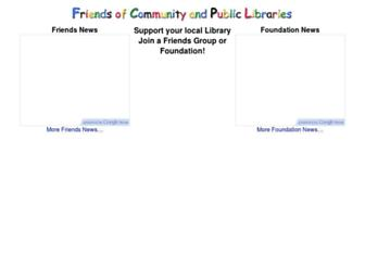 Main page screenshot of fcpl.info