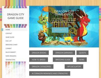 dragoncitygameguide.weebly.com screenshot