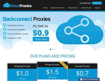 cloudproxies.com screenshot