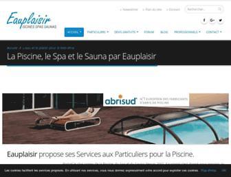 Thumbshot of Eauplaisir.com