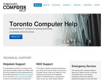 torontocomputerhelp.com screenshot