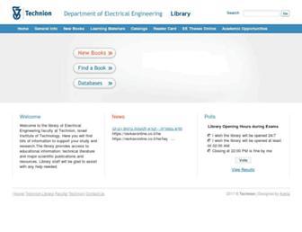 Main page screenshot of libee.technion.ac.il